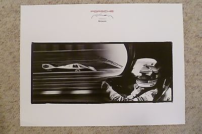 1984 Porsche 956 World Championship Museum Showroom Advertising Poster RARE L@@K