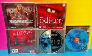 5-Game-PC-Horror-Lot-Odium-Scratches-Noctropolis-Braveheart-Jagged-Alliance-2