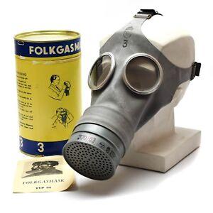 Details about Genuine Sweden Swedish gas mask Typ 4 Old vintage gas mask  1950's NEW