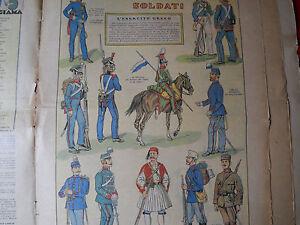 Corriere Dei Piccoli Originale Anni '30 L'esercito Greco Avoir Un Style National Unique