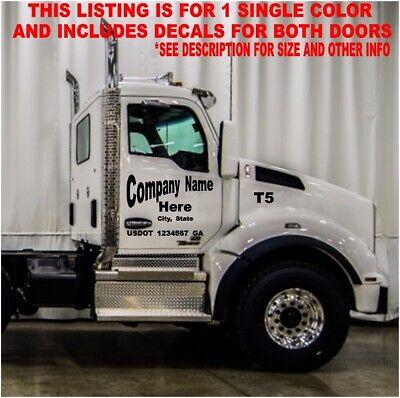 Semi Dump Truck Commercial 2 Door Lettering Set Decals