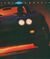1981 Corvette Original Sales Brochure