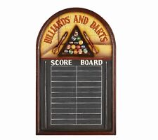 Wooden Billiard & Darts Score Board 3D Art with FREE shipping