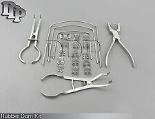 Rubber Dam Kit Of 21 Pcs Amp Clamps Of Your Choice Dental Orthodontic Instruments