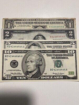 1-$ Bill Real Money Upside Down Washinggon Free Ship See  Diiscriptiion  Unc.