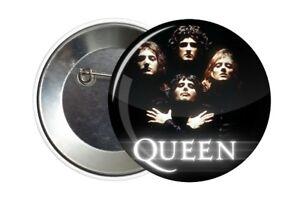 Badge Pin Button Queen Freddie Mercury Bohemian Rhapsody