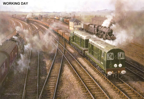 "Collection Ici Hornby Dublo In Railway Art ""working Day"" No.18 By John Austin Signed & Numbered"