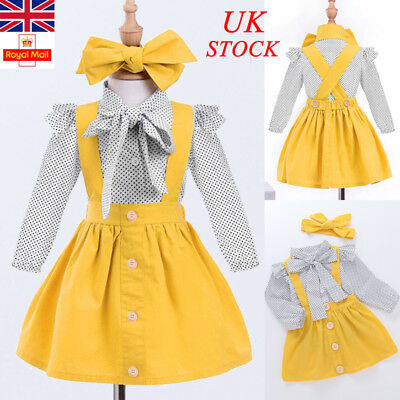 2pcs Newborn Toddler Infant Baby Girl Clothes Sling Tops+Skirt Dress Outfit Set