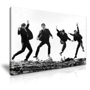The-Beatles-Rock-Band-Jumping-Canvas-Print-Wall-Art-5-Size