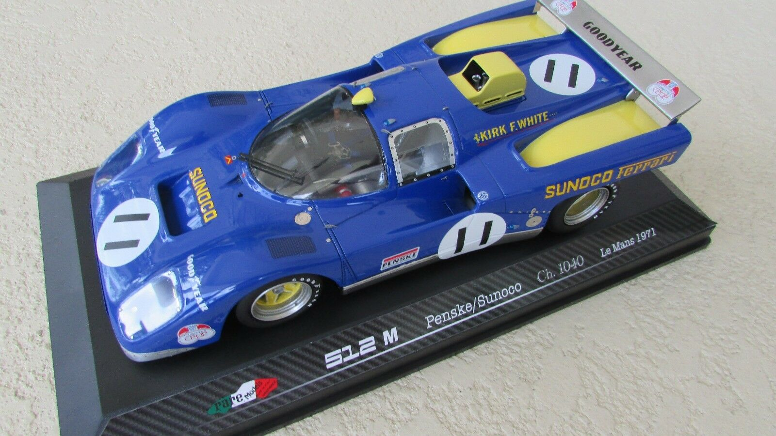 1971 Ferrari 512 M Penske Sunoco Donohue Hobbs race car Le Mans 24  1 18