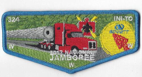 2017 National Jamboree OA Lodge 324 Ini-to Flap Blue Border OANJ223