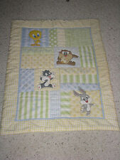 LOONEY TUNES BABY BLANKET QUILT TWEETY TAZ SYLVESTER WIDDLE TWEET HEART