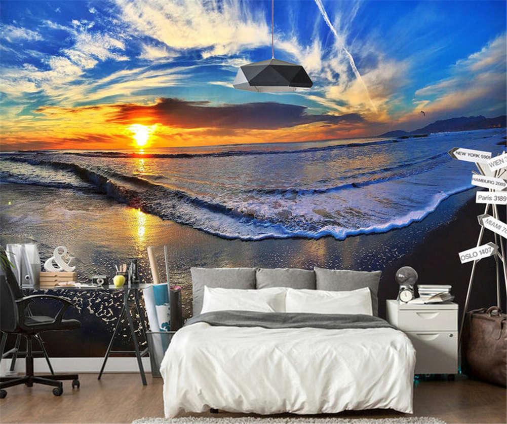 Static Blau Ocean 3D Full Wall Mural Photo Wallpaper Printing Home Kids Decor