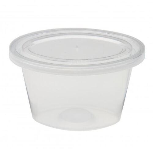 SATCO ROUND PLASTIC 8OZ CUPS WITH LIDS X 100