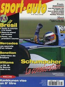 SPORT-AUTO-n-387-AVRIL-1994-GP-BRESIL-AUDI-AVANT-RS-2-FIAT-coupe-16V-amp-TURBO