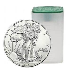 2021 1oz American Silver Eagles - Tube of 20 Coins .999 Silver Coins #A223