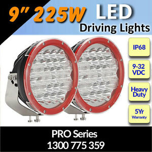 Details About Led Driving Lights 9 225w Heavy Duty Pro Series Cree 12 24v Fantastic
