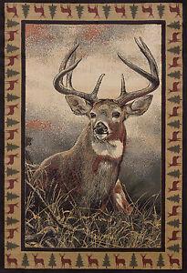 Lodge-Deer-Cabin-Rustic-Buck-Antler-Area-Rug