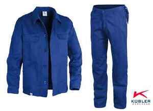 Komplettset-Arbeitshose-und-Arbeitsjacke-ECO-PLUS-Kuebler-Groesse-24-110-Blau