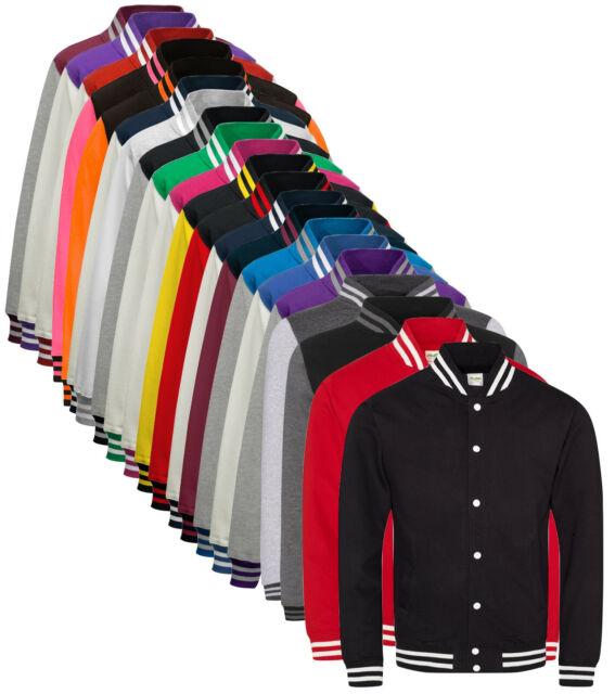 Boys Girls Varsity Letterman Jacket Rock Band Logo Design Baseball Cotton Sweatshirt Coat for Kids