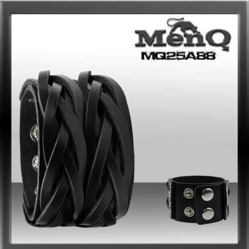 Leather Bracelet Men Men/'s Bracelet Braun Black White menq M88