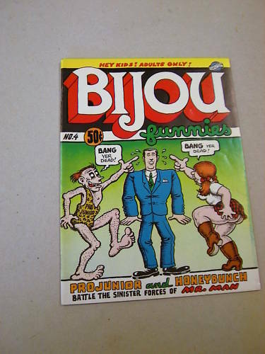 'BIJOU FUNNIES' #4 1ST PRINT 1970 VFN! R. CRUMB ART! `PRO-JUNIOR & HONEYBUNCH`!