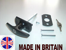 NEW CARDALE T-Handle Garage Door Lock 75mm SQUARE SHAFT lock handle garage door
