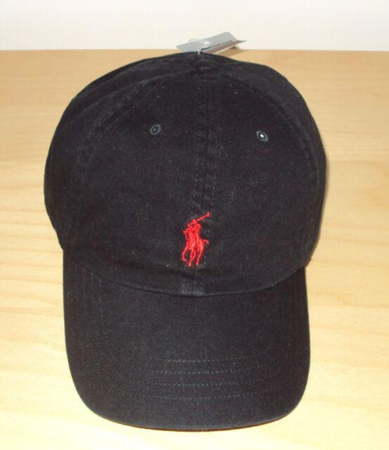 e90e5b7322c Polo Ralph Lauren Mens Classic Baseball Cap Hat Leather Strap Black ...