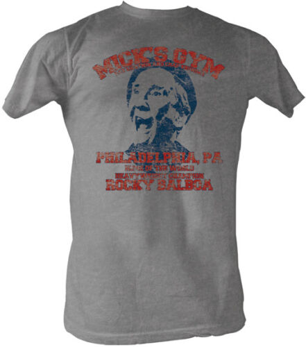 Rocky Mick/'s Gym Distressed Look Adult T Shirt Classic Movie