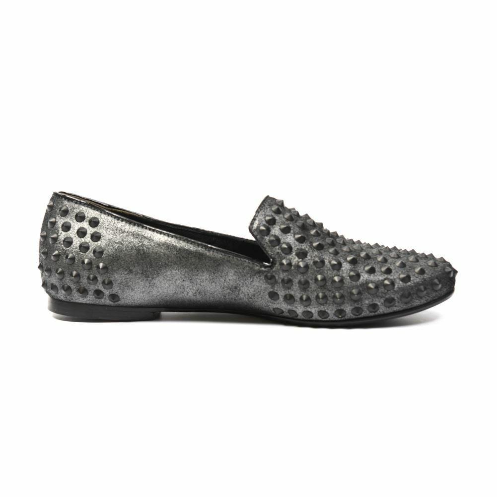 KENNEL & SCHMENGER shoes Silver Black Studded Leather Size UK 3 MB 103