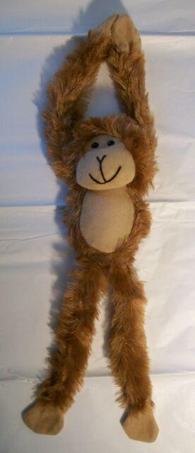 Set Of 4 14 Plush Hanging Monkeys Velcro Hands Stuffed Animal One