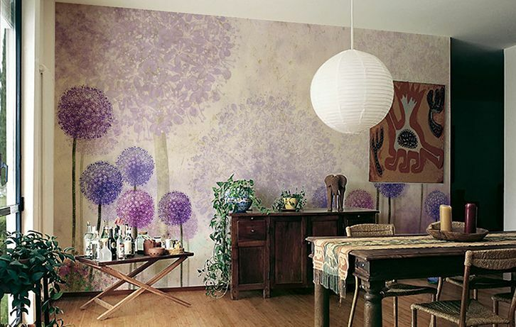 Mega 3D lila Hydrangea1882 Paper Wall Print Decal Wall Deco Indoor Wall Murals