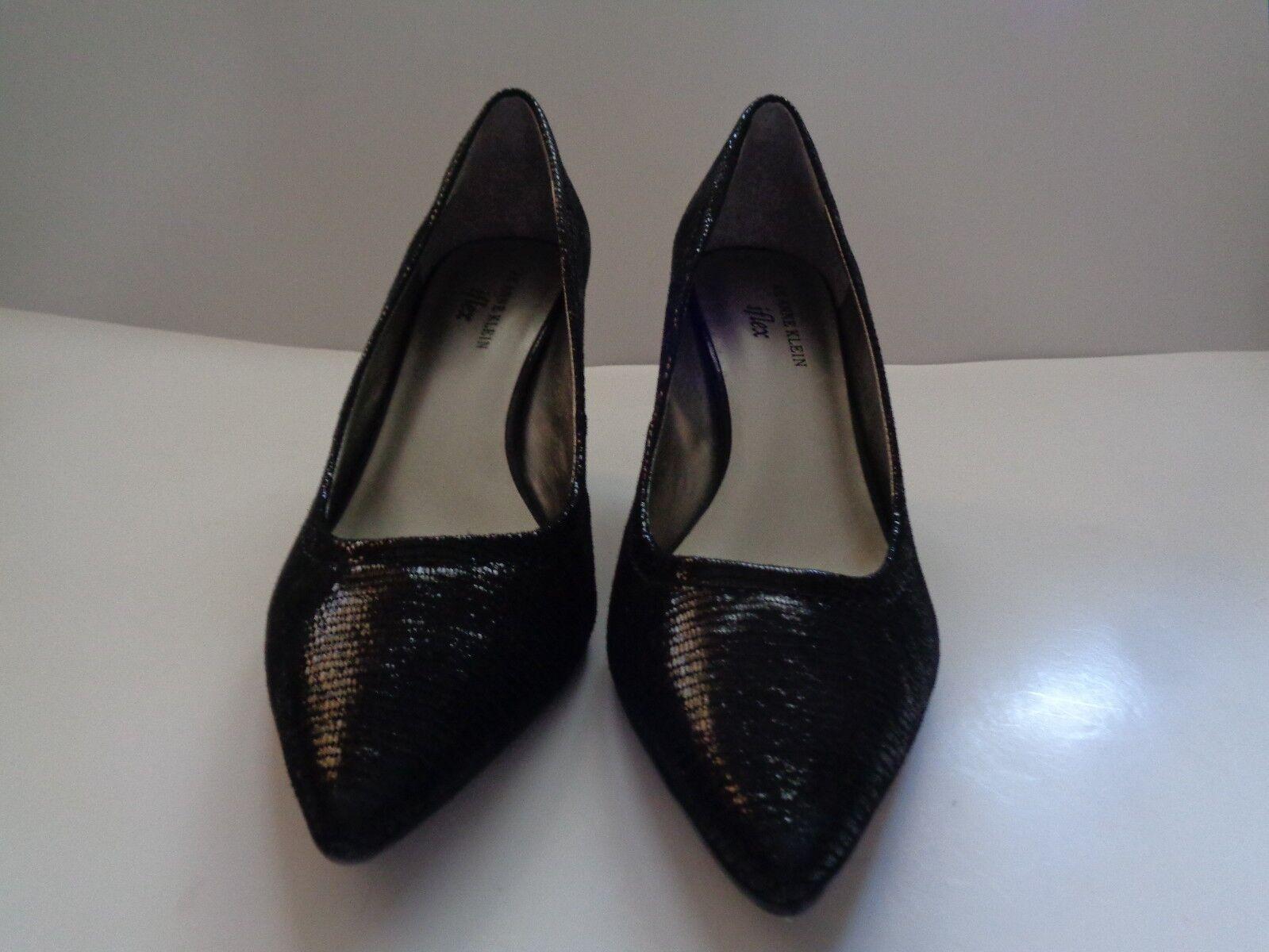 """New Anne Klein Iflex Black Cakewalk High Heels 3 1/2"""" Women's Shoes Size 9M"""