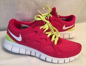Run+ 2 Pink Neon Yellow Womens sz 9