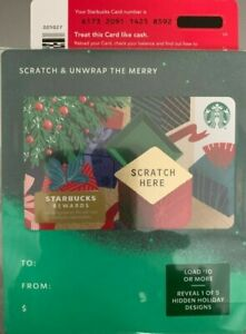 2019 Starbucks Christmas Scratch Unwrap The Merry Gift Card No Value Mint Ebay