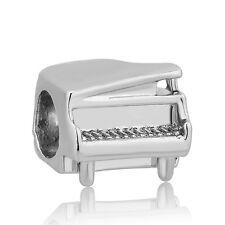1Pcs Silver Piano Charm bead For European  Bracelet&Necklace
