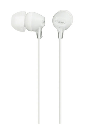 Sony MDR-EX15LP In-Ear Wired Headphones - White