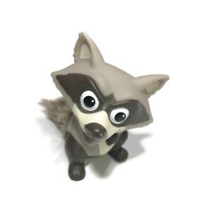 "Disney Pixar Pocahontas Meeko Raccoon Vinyl Figure with Furry Tail Toy 5.5"" Tall"