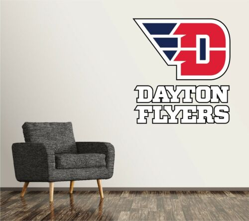 Dayton Flyers Wall Decal Logo NCAA College Sticker Vinyl LARGE SR188