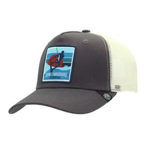 Gorra-Trucker-Born-to-Wakeboard-Gris-The-Indian-Face-para-hombre-y-mujer
