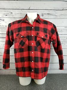 Five-Brother-Pearl-Snap-Flannel-Shirt-XL-Plaid-Insulated-Quilted-Lined-Jacket