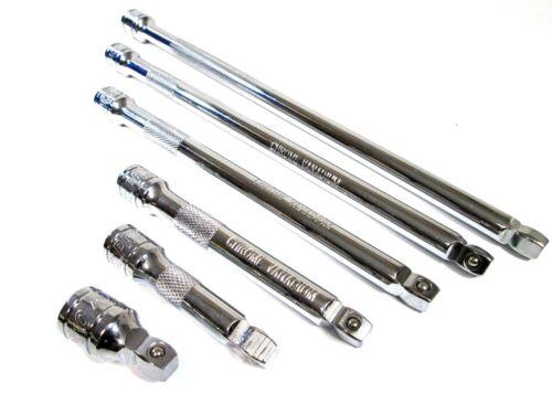 Wobble Socket Extension Bar Set US PRO 6pc 3//8 Inch Drive Swivel 38mm 300mm 4029
