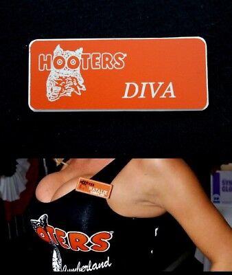 Hooters Uniform Courtney Name Tag Nametag Waitress Bartender Badge Pin