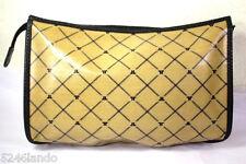 Vintage LANVIN Coated Canvas Toiletery Cosmetics Clutch Handbag Bag Italy