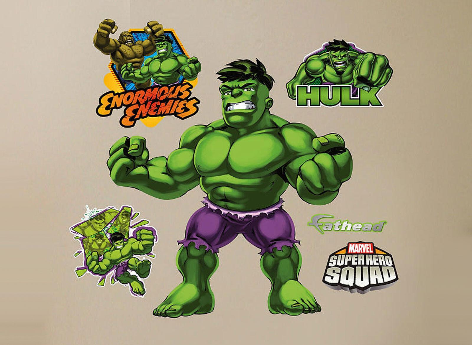 Fathead Super Hero Squad De Hulk Marvel Comics parojo decoración nuevo 96-96060