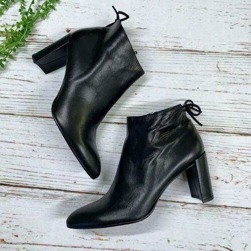 Stuart Weitzman 10M Lofty Ankle Boots Black Nappa
