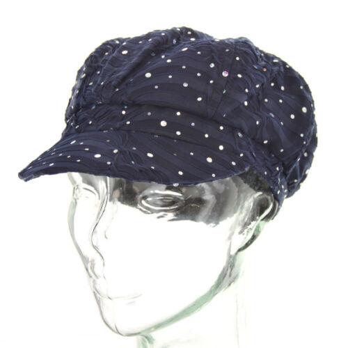 Rhinestone Newsboy Ivy Gatsby Cap Glitter Sequin  Bling Women Summer Hat654-665