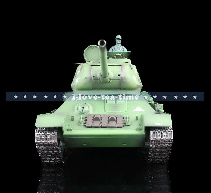 1 16 Scale 2.4G Henglong Russia T34-85 360 Turrret RC Tank 3909 Metal Road Wheel