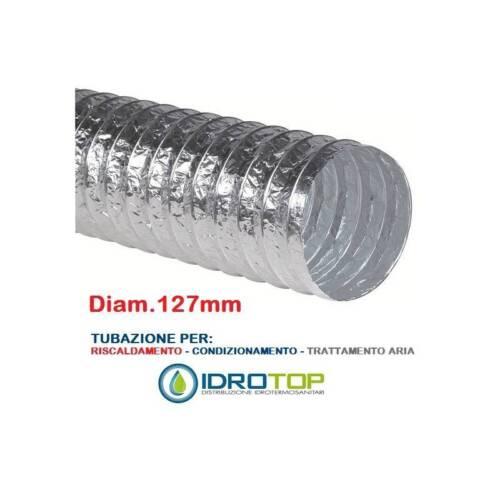 per Condiziona Tubo Flessibile diam.127 in Alluminio Semplice Estensibile 10 mt