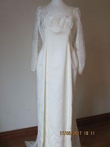 Femmes Vintage Robe De Mariée Bwto En Taille 14-afficher Le Titre D'origine
